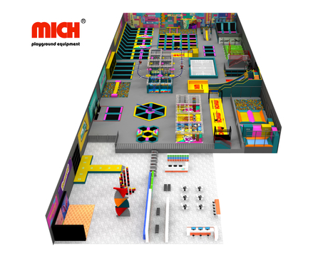 Mich Large Commercial Customized Trampoline Park with Multifunctional Games